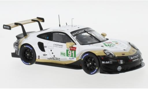 Porsche 911 1/43 I Spark (992) RSR No.91 Markenweltmeister WEC SuperSeason 24h Le Mans 2018 G.Bruni/R.Lietz/F.Makowiecki miniatura