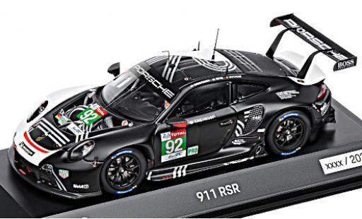 Porsche 992 RSR 1/43 I Spark 911 (991.2) No.92 24h Le Mans 2020 M.Christensen/K.Estre/L.Vanthoor diecast model cars