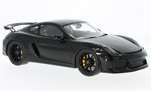 Porsche Cayman GT4 1/18 I Spark black diecast model cars