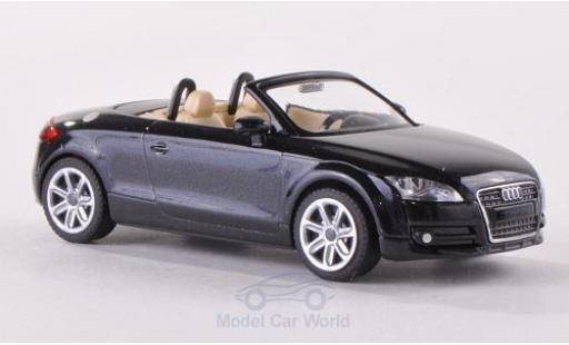 Audi TT 1/87 Wiking Roadster (8J) metallise noire 2007 miniature