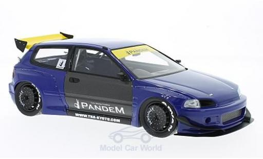 Honda Civic 1/18 Ignition Model (EG6) by Pandem metallic-bleue RHD miniature