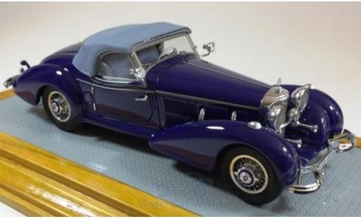 Mercedes 540 1/43 Ilario K Spezial Roadster bleue 1939 sn408383 miniature