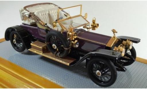 Rolls Royce Silver Ghost 1/43 Ilario Balloon Car violette/noire RHD 1910 sn1513 miniature