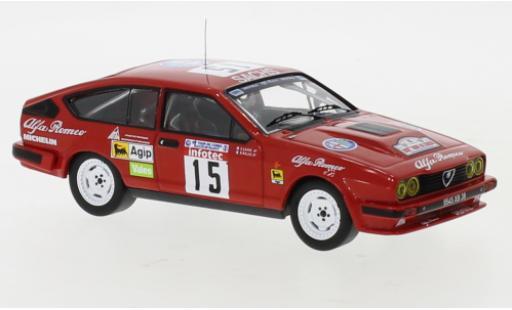 Alfa Romeo GT 1/43 IXO V6 No.15 Rallye WM Tour de Corse 1986 B.Balas/E.Laine miniature