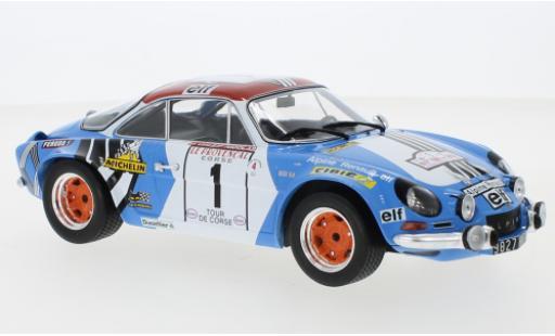Alpine A110 1/18 IXO Renault No.1 Rallye WM Tour de Corse 1973 J-P.Nicolas/M.Vial miniature