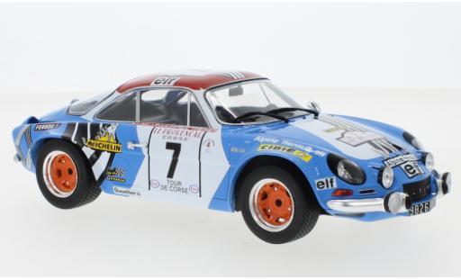 Alpine A110 1/18 IXO Renault No.7 Tour de Corse 1973 J-L.Therier/M.Callewaert miniature