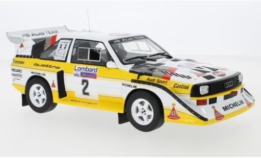 Audi Sport Quattro 1/18 IXO Sport quattro S1 No.2 HB Team HB Rallye WM RAC Rallye 1985 H.Mikkola/A.Hertz miniature
