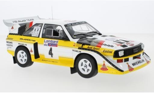 Audi Sport Quattro 1/18 IXO Sport quattro S1 No.4 HB Team HB Rallye WM RAC Rallye 1985 W.Röhrl/C.Geistdörfer miniature