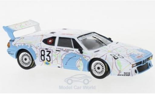 Bmw M1 1/43 IXO No.83 24h Le Mans 1980 D.Pironi/D.Quester/M.Mignot miniature