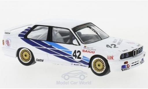 Bmw M3 1/43 IXO (E30) No.42 CiBiEmme WTCC Dijon 1987 J.Cecotto/G.Brancatelli miniature