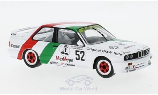 Bmw M3 1/43 IXO (E30) No.52 Bigazzi ETCC 1988 J.Laffite/O.Grouillard diecast model cars