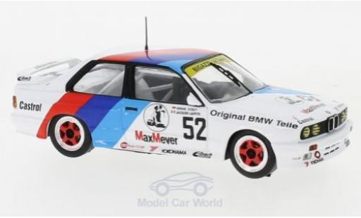 Bmw M3 1/43 IXO (E30) No.52 Bigazzi M Team ETCC 1988 J.Laffite/W.Vogt diecast model cars