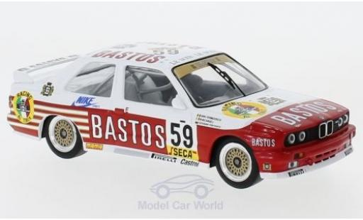 Bmw M3 1/43 IXO (E30) No.59 Bastos WTCC 24h Spa 1987 D.Vermeersch/G.Fontanesi/M.Micangeli modellautos