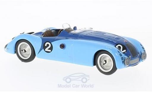 Bugatti 57 S 1/43 IXO Type G RHD No.2 24h Le Mans 1937 J-P.Wimille/R.Benoist miniature