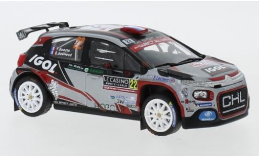 Citroen C3 1/43 IXO R5 No.22 CHL Sport Auto IGOL Rallye Monte Carlo 2019 Y.Bonato/B.Boulloud modellino in miniatura