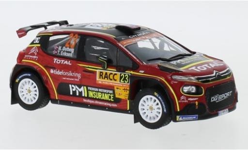 Citroen C3 1/43 IXO R5 No.23 Racing Total Rally Catalunya 2019 M.Ostberg/T.Eriksen diecast model cars