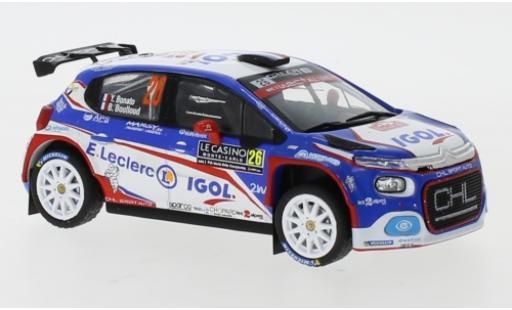 Citroen C3 1/43 IXO R5 No.26 Rallye WM Rallye Monte Carlo 2020 Y.Bonato/B.Boulloud modellino in miniatura