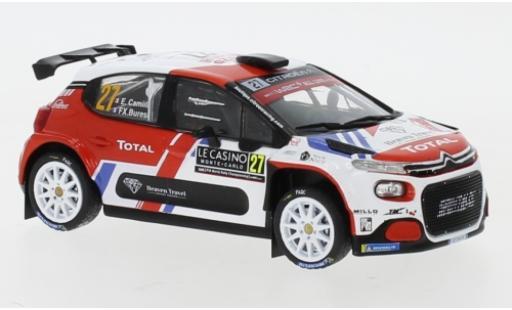 Citroen C3 1/43 IXO R5 No.27 Rallye WM Rally Monte Carlo 2020 E.Camilli/X.Buresi miniature