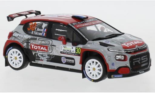 Citroen C3 1/43 IXO R5 No.30 Rallye WM Rallye Monza 2020 Y.Rossel/B.Fulcrand miniature