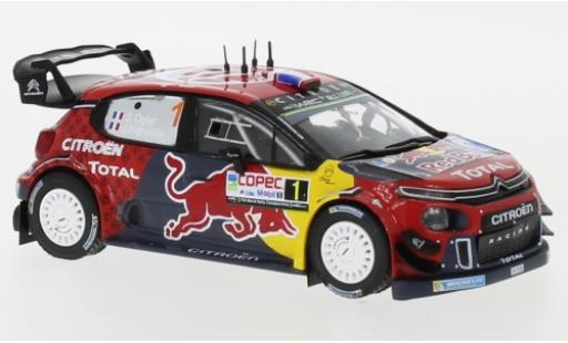 Citroen C3 1/43 IXO WRC No.1 Red Bull Rallye WM Rally Chile 2019 S.Ogier/J.Ingrassia diecast model cars
