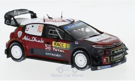 Citroen C3 1/43 IXO WRC No.10 Rallye WM Rallye Catalunya 2018 S.Loeb/D.Elena diecast model cars