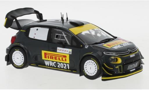 Citroen C3 1/43 IXO WRC Rallye WM Rallye Sardinien 2020 P.Solberg/A.Mikkelsen miniature