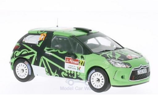 DS Automobiles DS3 R3 1/43 IXO Citroen R3 No.27 Rallye Portugal 2011 miniature