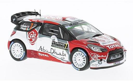 DS Automobiles DS3 1/43 IXO Citroen WRC No.7 Abu Dhabi Rallye WM Rally Monte Carlo 2016 K.Meeke/P.Nagle miniature