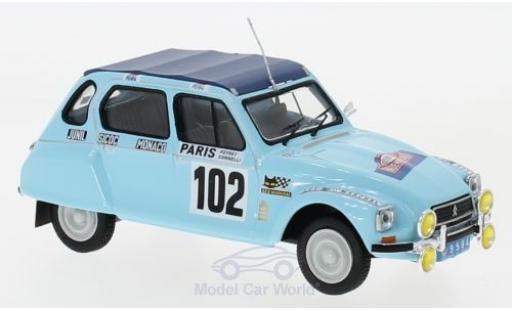 Citroen Dyane 1/43 IXO No.102 Rallye WM Rally Monte Carlo 1976 M.Peyret/J.J.Cornelli modellautos