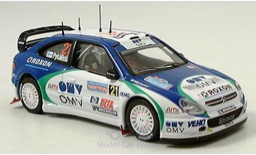 Citroen Xsara 1/43 IXO WRC No.21 Rallye Italien 2005 Pykalisto/Ovaskeinen miniature