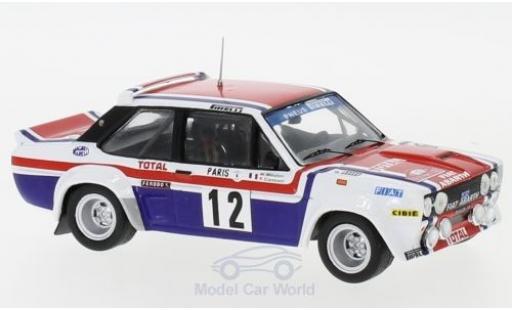 Fiat 131 1/43 IXO Abarth No.12 Rallye WM Rallye Monte Carlo 1979 M.Mouton/F.Conconi miniature