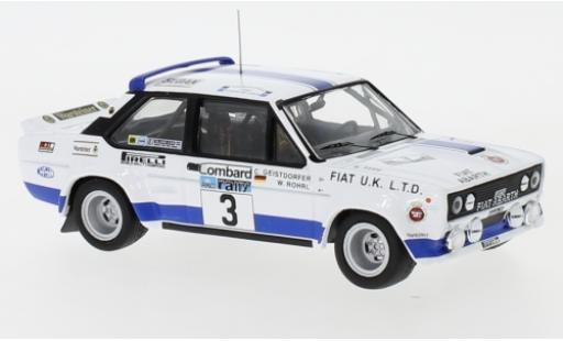 Fiat 131 1/43 IXO Abarth No.3 UK Rallye WM RAC Rallye 1979 W.Röhrl/C.Geistdörfer diecast