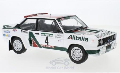 Fiat 131 1/18 IXO Abarth No.4 Rallye WM Rallye Portugal 1978 M.Alen/I.Kivimaki modellautos