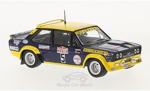 Fiat 131 Abarth 1/43 IXO Abarth No.5 Olio Rallye WM Rally San Remo 1977 W.Röhrl/W.Pitz miniature