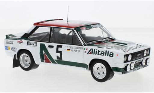 Fiat 131 1/24 IXO Abarth No.7 Rally Acropolis 1978 M.Alen/I.Kivimaki miniature