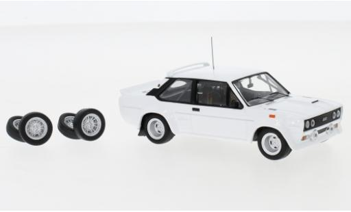 Fiat 131 1/43 IXO Abarth blanco 1978 Plain Body Version y compris les Zusatzteile coche miniatura