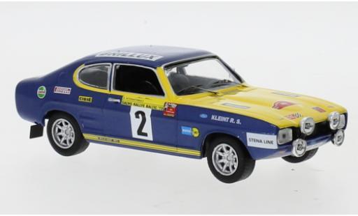 Ford Capri 1/43 IXO No.2 Rallye DM Rally Baltic 1972 W.Röhrl/J.Berger diecast model cars