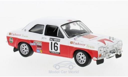 Ford Escort 1/43 IXO MK I RS 1600 No.16 Embassy RAC Rallye 1971 T.Makinen/H.Liddon miniature