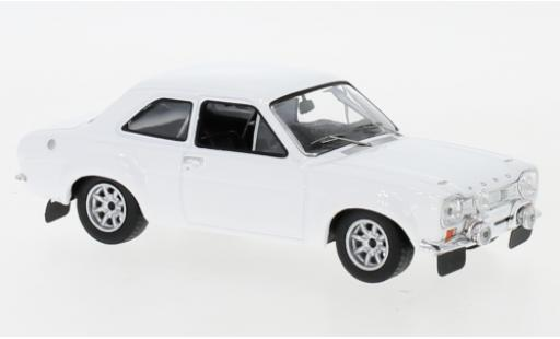 Ford Escort 1/43 IXO MK I white 1971 Plain Body Version y compris les Zusatzteile diecast model cars