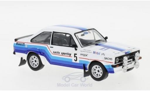 Ford Escort 1/43 IXO MK II RS 1800 No.5 Sachs Rallye DM Rallye Hessen 1978 R.Hainbach/W.Linzen diecast