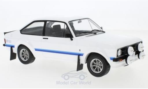 Ford Escort 1/18 IXO MK II RS 1800 blanche RHD 1977 miniature