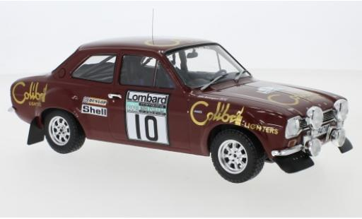 Ford Escort 1/18 IXO MK1 RS 1600 No.10 Colibri Lighters Rallye WM RAC Rallye 1974 H.Mikkola/J.Davenport diecast model cars