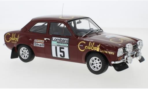 Ford Escort 1/18 IXO MK1 RS 1600 No.15 Colibri Lighters Rallye WM RAC Rallye 1974 M.Alen/P.White diecast model cars
