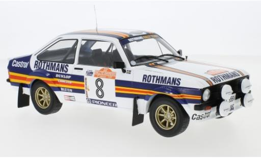 Ford Escort 1/18 IXO MKII RS 1800 No.8 Rothmans Rallye WM Rally San Remo 1980 H.Mikkola/A.Hertz miniature