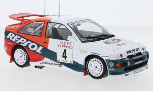 Ford Escort 1/24 IXO RS Cosworth No.4 Repsol Rallye WM Rallye San Remo 1996 C.Sainz/L.Moya diecast model cars