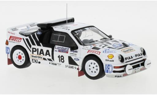 Ford RS 200 1/43 IXO RS200 No.18 Rallye WM RAC Rally 1986 S.Andervang/D.West diecast model cars