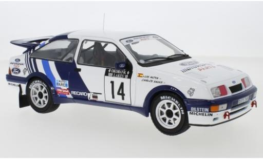 Ford Sierra 1/18 IXO RS Cosworth No.14 Rallye WM 1000 Lakes Rallye 1988 C.Sainz/L.Moya diecast model cars