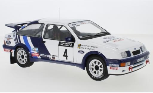 Ford Sierra 1/18 IXO RS Cosworth No.4 Rallye WM 1000 Lakes Rallye 1988 S.Blomqvist/B.Melander diecast model cars