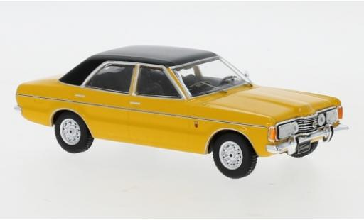 Ford Taunus 1/43 IXO GLX yellow/black 1973 diecast model cars