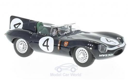 Jaguar D-Type 1/43 IXO RHD No.4 24h Le Mans 1956 N.Sanderson/R.Flockhart miniature